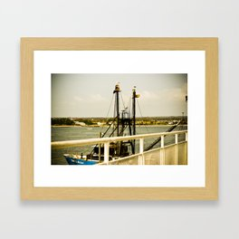Orange Dock Framed Art Print