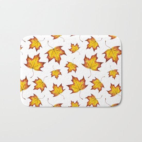 Autumn Leaves Pattern 04 Bath Mat