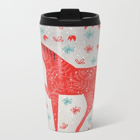 The Red Horse Metal Travel Mug