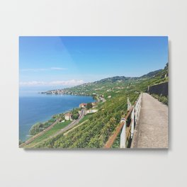 Vineyards of Epesses, Switzerland Metal Print