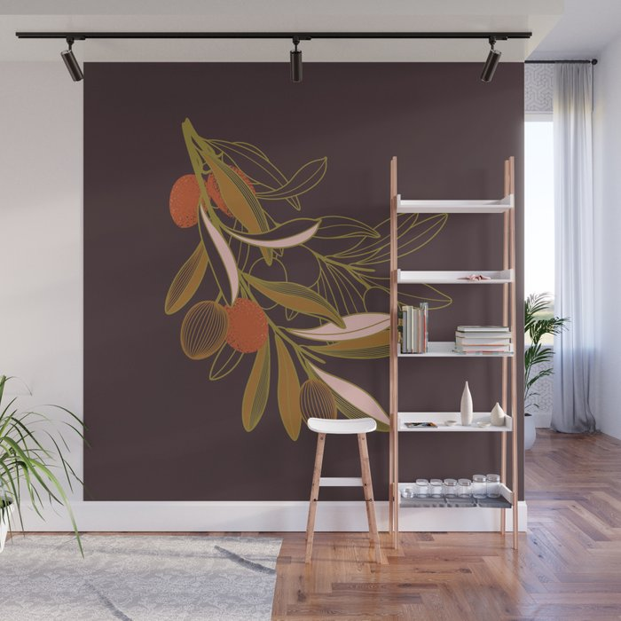 Olive branch Wall Mural