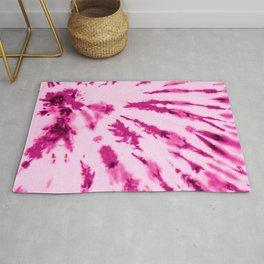 Summer Artsy Girly Neon Blush Pink Tie Dye Pattern Rug