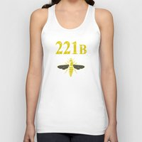 221b Tank Tops featuring 221B(ee) by sirwatson
