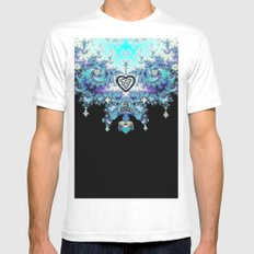 Celtic Fractal Celtic Heart Tapestry Mens Fitted Tee White MEDIUM