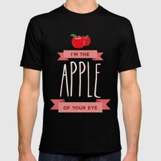 Apple of my eye Mens Fitted Tee Black SMALL