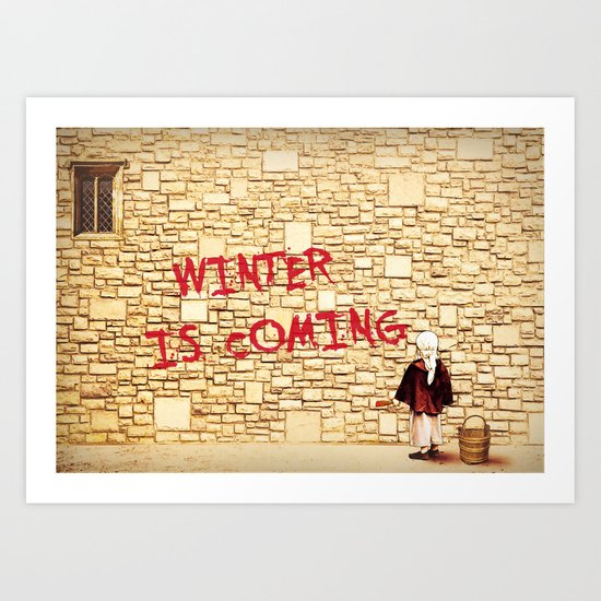 King's Landing Banksy: Winter Art Print