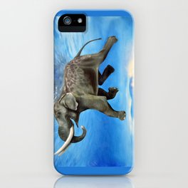 Rajan The Swimming Elephant iPhone Case