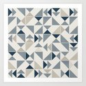 Abstract Geometric Triangle Pattern by mesutok