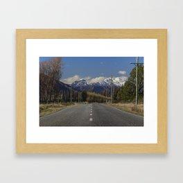 Where the Mountains meet the Road - Wanaka, New Zealand Framed Art Print