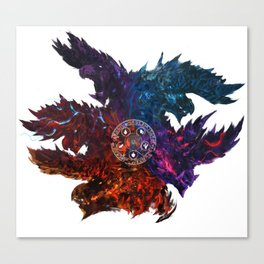 The Blazing Darkness  Canvas Print