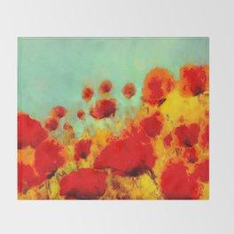 FLOWERS - Poppy time Throw Blanket