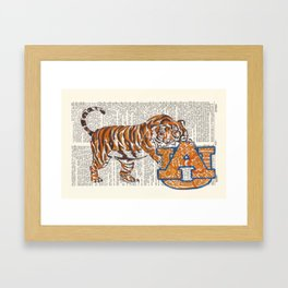 War Eagle  (Auburn Tiger) Framed Art Print