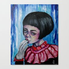 The Girl with Silver Hands  Canvas Print