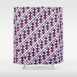 tile-pattern Shower Curtain