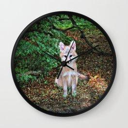 Little Grey Fox II Wall Clock