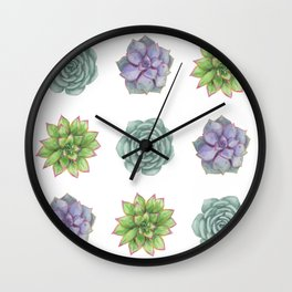 Three Little Succulents Wall Clock
