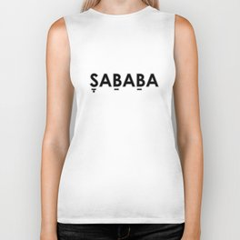Sababa with punctuation Biker Tank