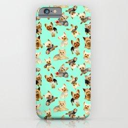 Yorkie Pattern iPhone Case