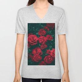The Rose Bush (Color) Unisex V-Neck
