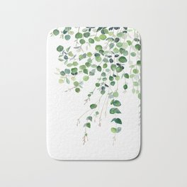 Eucalyptus Watercolor Bath Mat