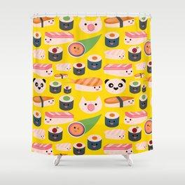 Kawaii sushi sushi Shower Curtain