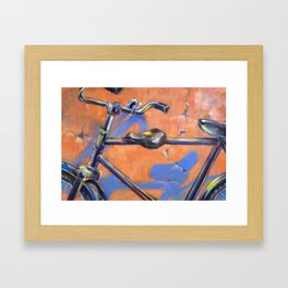 The Makeshift Double Seater Bicycle Framed Art Print