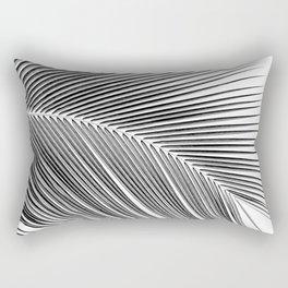 Palm leaf - bw Rectangular Pillow