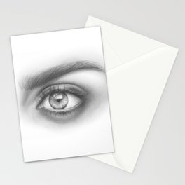 Eye Art | Sexy Girl | Beauty | Model | Woman Face | Graphite Drawing| Pencil Black and White Art Stationery Cards