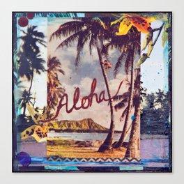 Aloha Waikiki, Hawaii Canvas Print