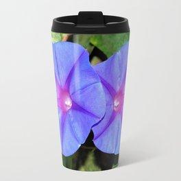 Vivid Blue, Purple and Pink Ipomoea Flowers Travel Mug