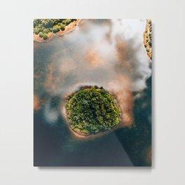 Dutch water lake Appelscha Friesland The Netherlands Metal Print