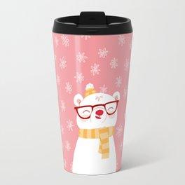 Hipster Polar Bear 2 Travel Mug