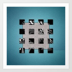 SQUARE AMBIENCE - Blue Sports Art Print