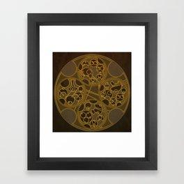 Tick-Tock Poem in Circular Gallifreyan Framed Art Print