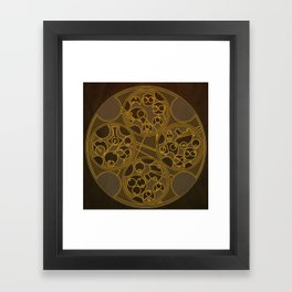Tick-Tock Poem in Circular Gallifreyan Framed Art Print