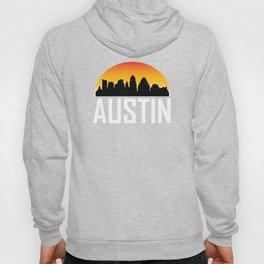 Sunset Skyline of Austin TX Hoody