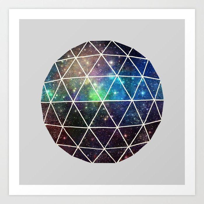 Space Geodesic Art Print