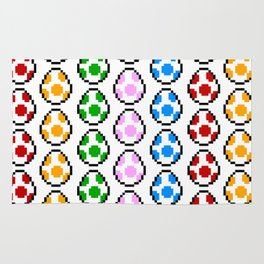 Yoshi Rainbow Eggs Rug