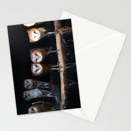 Owls the family Stationery Cards