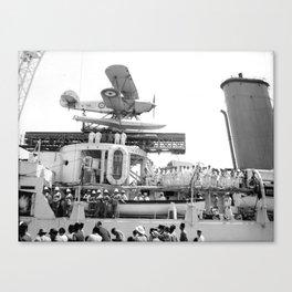 Arrival of the Negus to Haifa 1936 Canvas Print