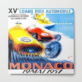 Monaco Grand Prix 1957 Metal Print