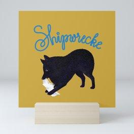 Shipwrecke (Yellow and Blue) Mini Art Print