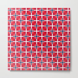 Mix of flag: norway and denmark Metal Print