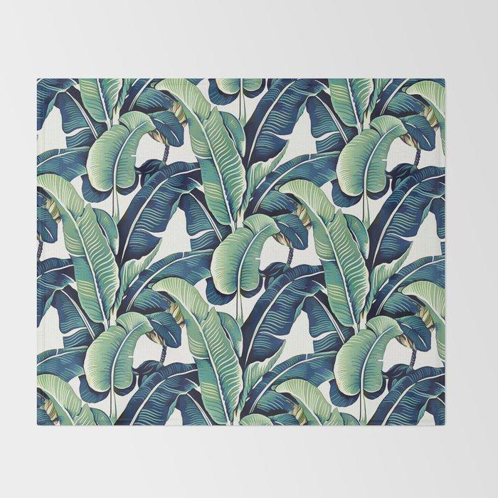 Banana leaves Throw Blanket