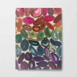 Rainbow Agates Metal Print