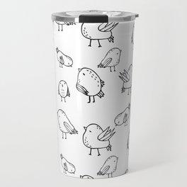 Flock Of Birds - White Travel Mug
