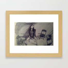 We're all a little mad Framed Art Print