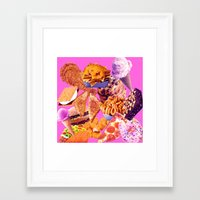 junk food Framed Art Prints featuring Junk  by ♡♡Transparent Mess♡♡