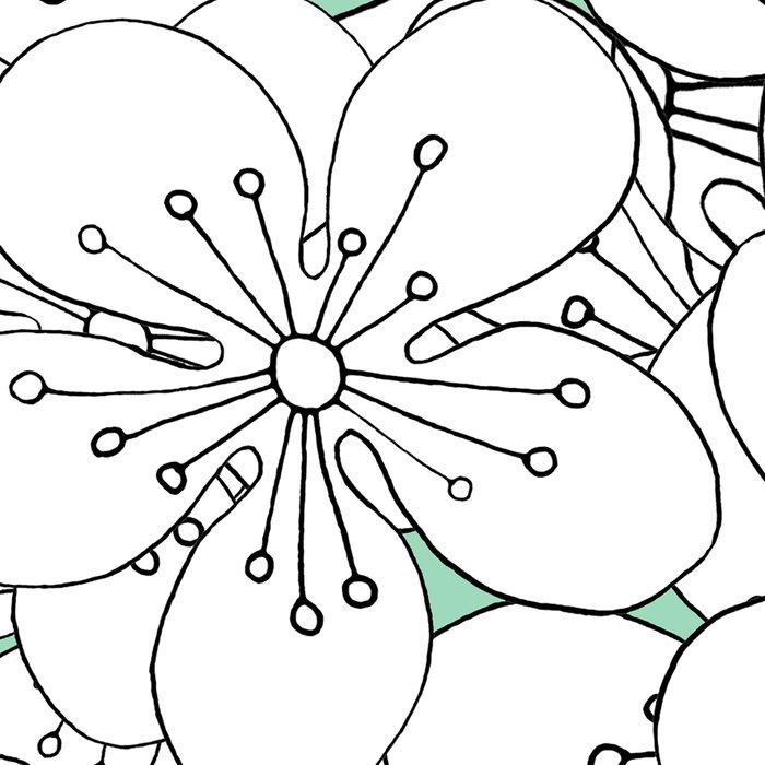 Cherry Blossom With Mint Blocks - In Memory of Mackenzie Leggings