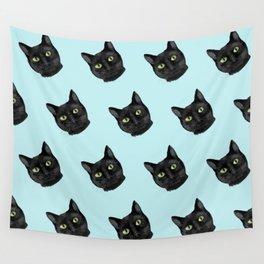 Black Cat Appreciation Day Wall Tapestry